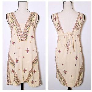 free people ivory emroidered dress